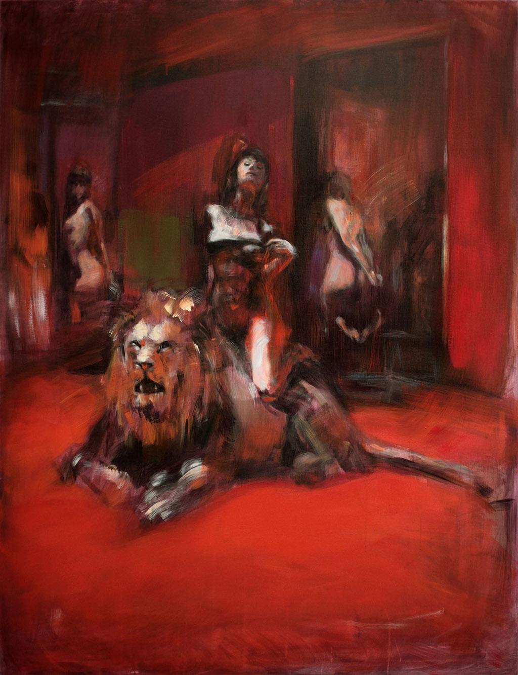 Das Löwenzimmer2013, Acryl/Lwd, 195x155cm