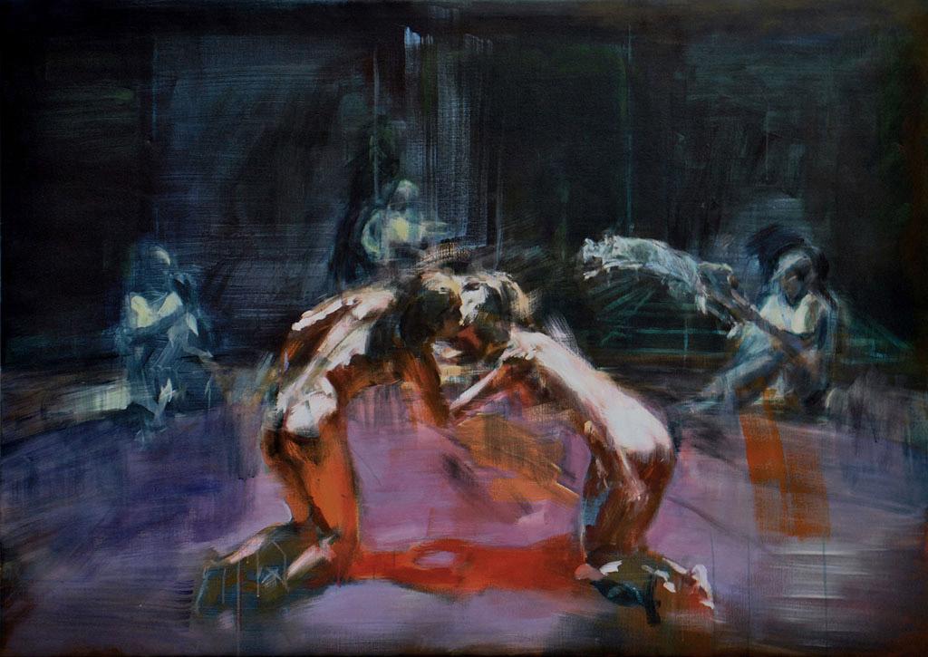 Der Sprung der Katze2012, Acryl/Lwd, 140x180cm