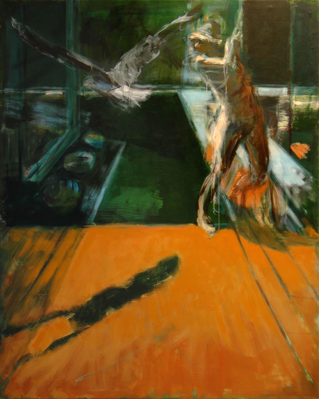 Der Vogel 2018, Öl/ Lwd, 200x160 cm