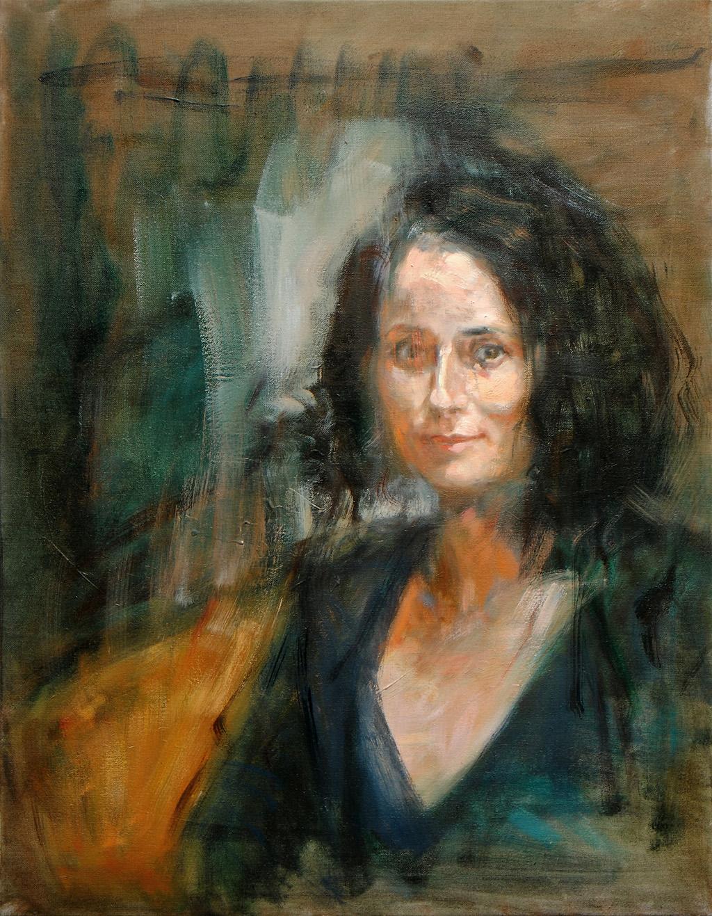 Gisela Stimpfl   2016, Öl/ Lwd, 90x70cm