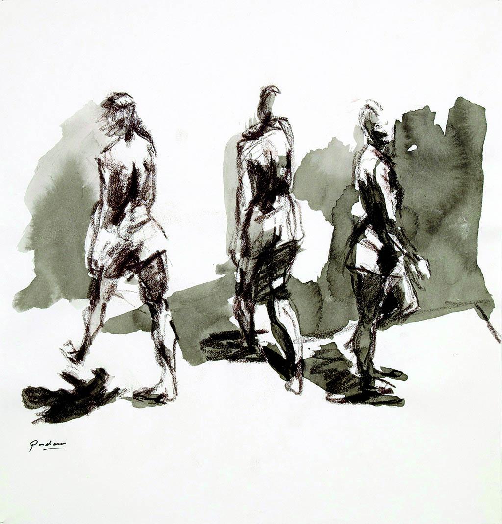 O.T._01   2009, Acryl/Kreide/Papier, 24x23cm
