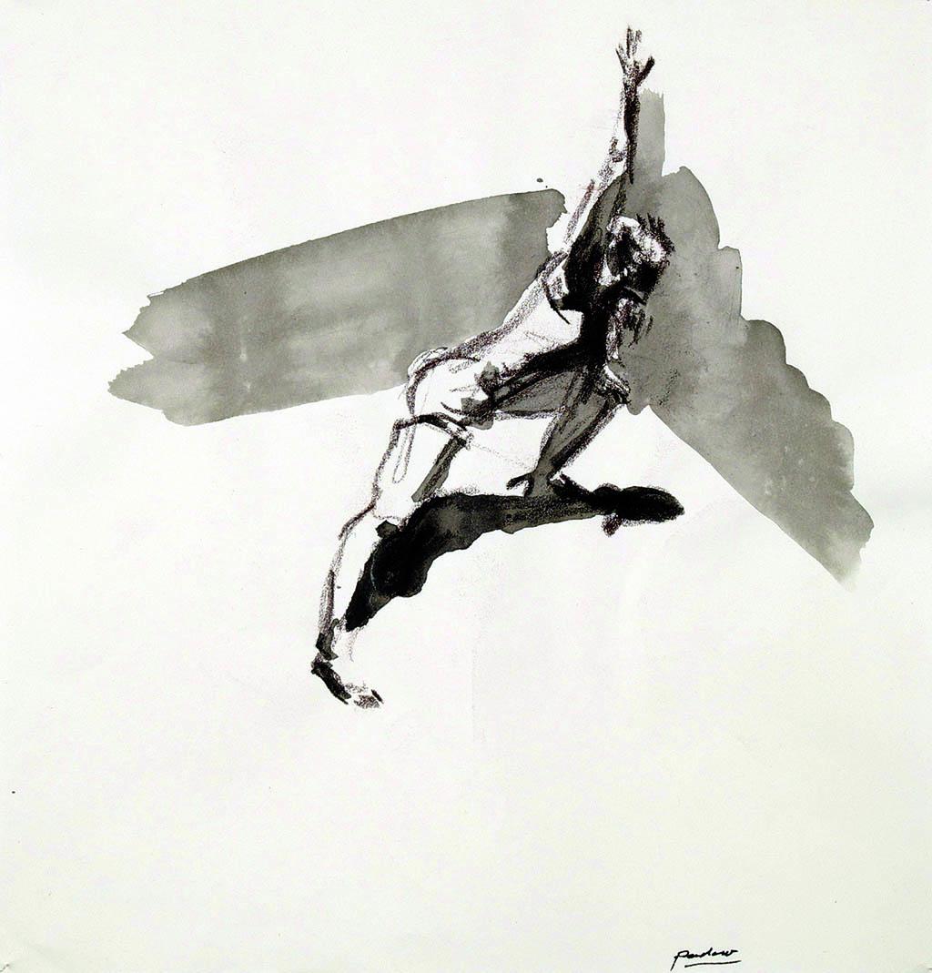 O.T._02   2009, Acryl/Kreide/Papier, 24x23cm