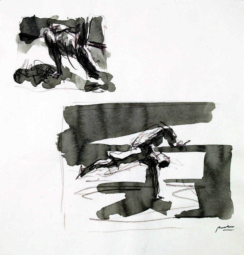 O.T._04   2009, Acryl/Kreide/Papier, 24x23cm