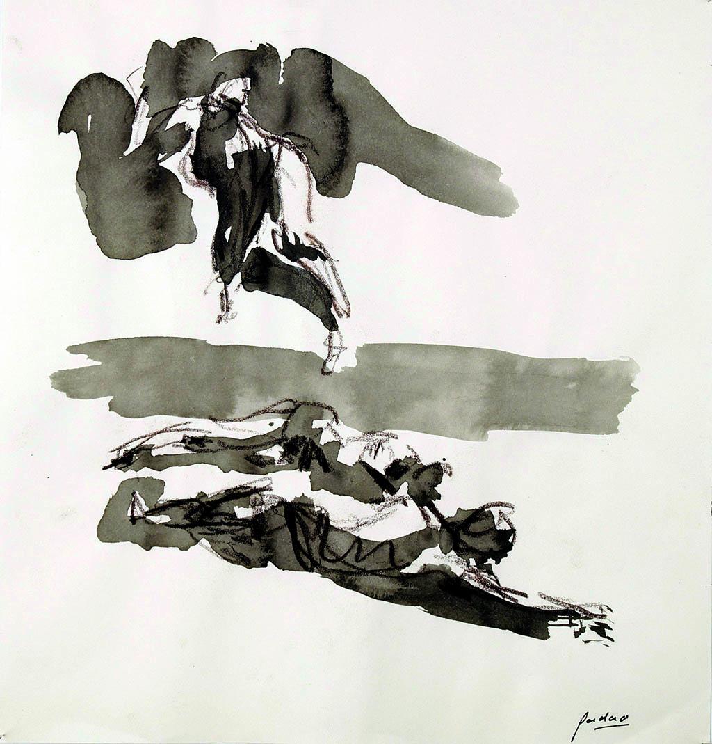 O.T._06   2009, Acryl/Kreide/Papier, 24x23cm