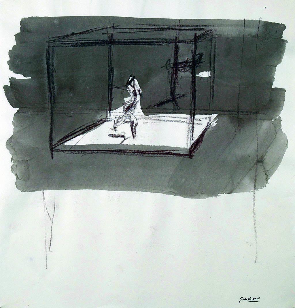 O.T._07   2009, Acryl/Kreide/Papier, 24x23cm