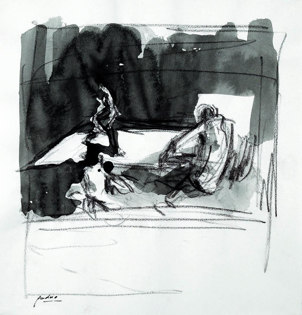 O.T._08   2009, Acryl/Kreide/Papier, 24x23cm