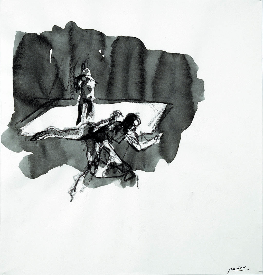 O.T._09   2009, Acryl/Kreide/Papier, 24x23cm