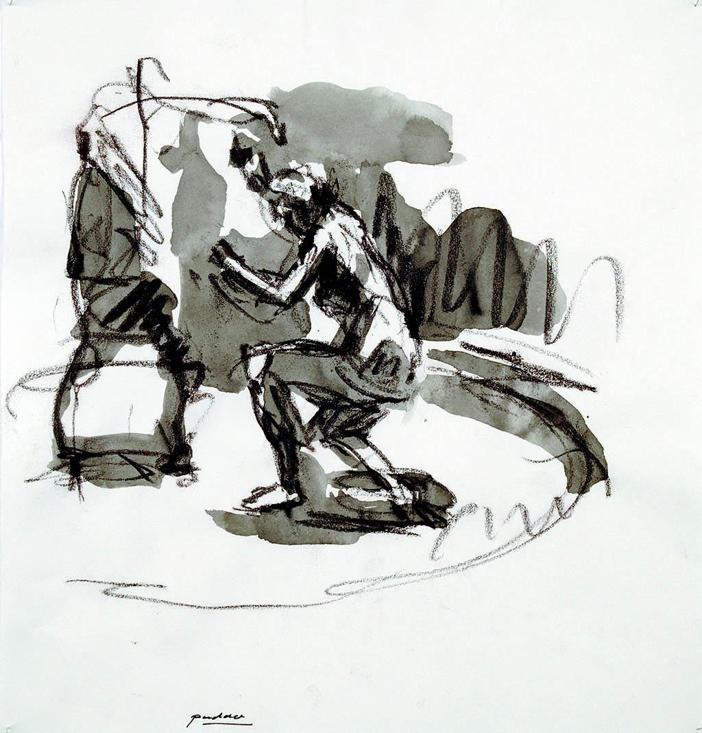 O.T._11   2009, Acryl/Kreide/Papier, 24x23cm