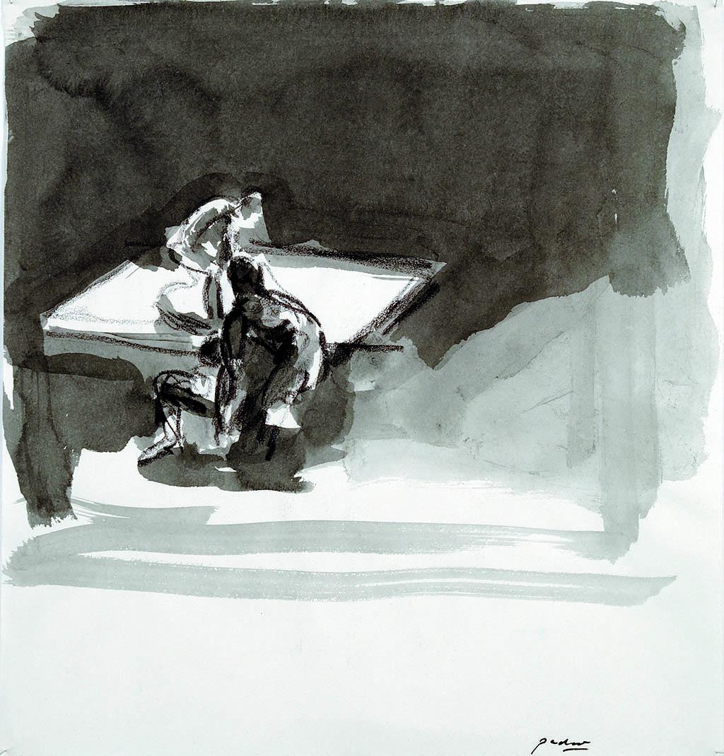 O.T._12   2009, Acryl/Kreide/Papier, 24x23cm