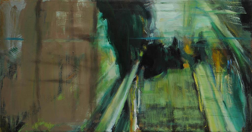 Transition II 2017, Öl/ Lwd, 50x95 cm